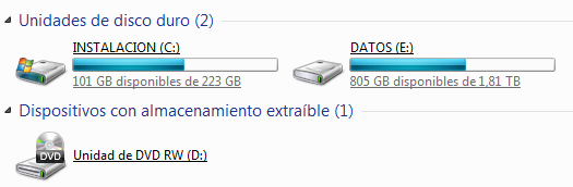 Primeiro e que debe quedar totalmente claro. O HDD (Hard Disk Drive ou Disco Duro) pode ser fraccionado en varias particións